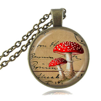 Psychedelic Mushroom Necklace
