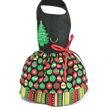 Christmas Holiday Dog Harness Dress