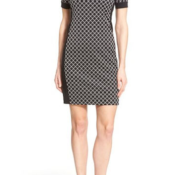 'Champlin' Short Sleeve Body-Con Dress (Regular & Petite)