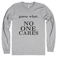 No one cares-Unisex Heather Grey T-Shirt