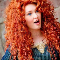 Disney Brave Merida Super Deluxe Long Curly Costume Wig
