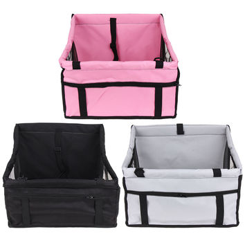 Oxford Cloth Waterproof Folding Washable Hammock Car Mat Seat Cover Bag Crate Storage Pocket For Dog Cat Rear Single Seat Pads