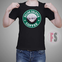 Killua Zoldyck HxH Hunter X Hunter Starbucks Coffee AllukaArtTees Unisex Adult Tees
