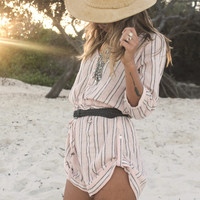Island Boho Playsuit – Coral