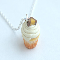 peanut butter cupcake necklace