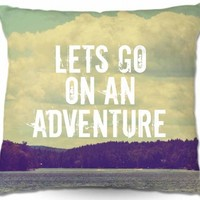 Artistic Couch Pillow | Rachel Burbee | Lets Go On An Adventure | Dianoche Designs