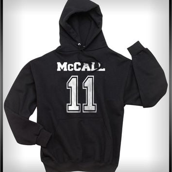 11 McCall White ink Beacon hills lacrosse teen wolf Unisex Pullover Hoodie