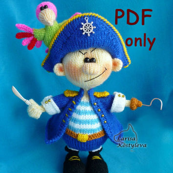 Pirate,knitting amigurumi,PDF pattern