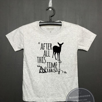 After All This Time? Always shirt - Harry potter Kids Shirt - Girls Clothing- Funny Birthday, Kid Shirt, little girl , Flock printing
