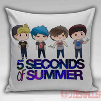 5 Second of Summer, 5SOS Cartoon Throw Pillow for the Home Decor