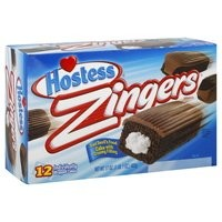 Hostess Zingers Iced Devil's Food Cake with Creamy Frosting, 12 Cakes, 17 Oz. Net (Pack of 2)