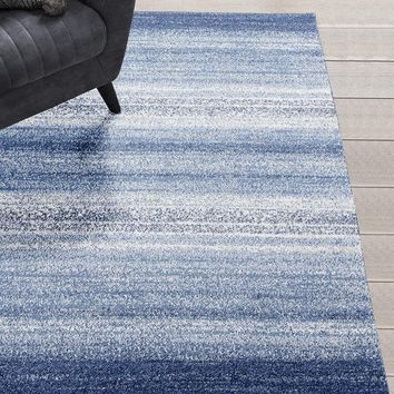 1040 Blue Modern Contemporary Area Rugs