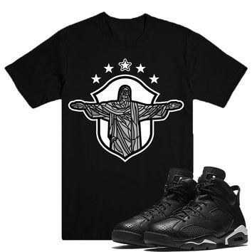 REDEEMER-Jordan BLACK CAT 6's Sneaker Match T-Shirt Tees, Nike Retro