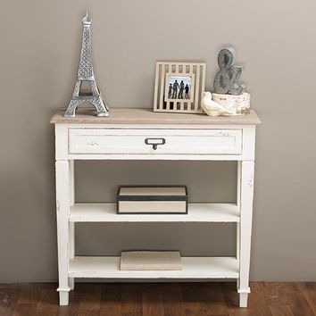 Baxton Studio Dauphine Traditional French Accent Console Table—1 Drawer Set of 1
