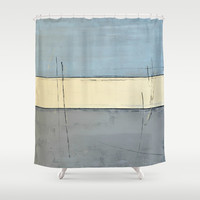 Concerned Shower Curtain by T30 Gallery