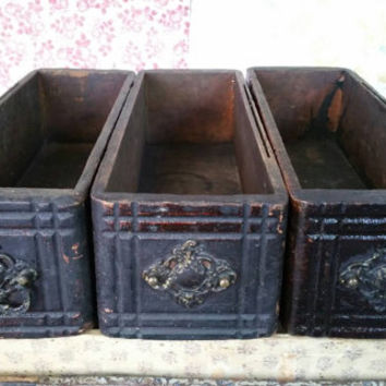 "Antique Sewing Table Drawers,Rustic Centerpieces,Display Boxes 14.5"" Length"