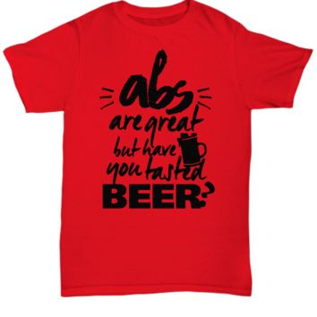 Funny Beer Battle of the Six Packs Unisex T-Shirt