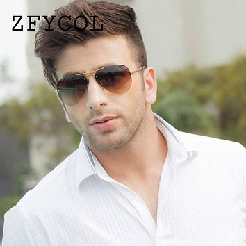 ZFYCOL Fashion Aviator Sunglasses Men/Women Brand Designer Driving Glasses Vintage Male Rimless sunglasses Female Eyewear BY0119