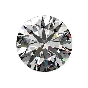 Round Radiant Cut Diamond Veneer Loose Stone Clear Simulated Diamond
