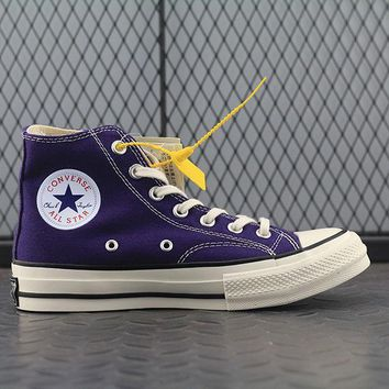 Converse Addict High Tops Fashion Canvas Flats Sneakers Purple-1