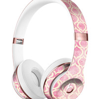 Pink and Yellow Bubble Morrocan Pattern Full-Body Skin Kit for the Beats by Dre Solo 3 Wireless Headphones
