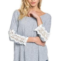Casual Cute Ribbed Knit Tunic - Sky FINAL SALE!