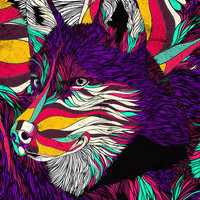 Color Husky Art Print by Danny Ivan