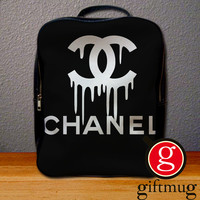 Coco Chanel Logo Backpack for Student