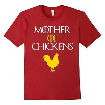 Funny MOTHER OF CHICKENS T-shirt (gift for chicken lovers)