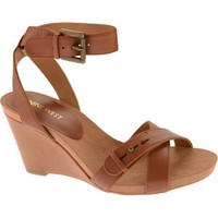 Women's Nine West Ellianna Cognac Leather | Overstock.com Shopping - The Best Deals on Wedges