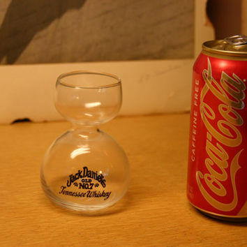 Jack Daniels Tennesy Whiskey Sifter Tasters Glass, Rare Collectors Barware, Hipster Cool!!
