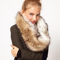 ASOS Faux Fur Snood at asos.com