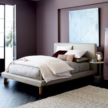 Mod Leather Platform Bed