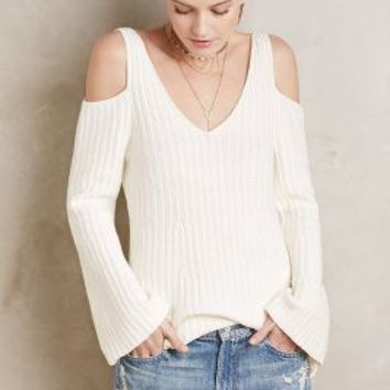 Knitted & Knotted Open-Shoulder Pullover
