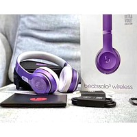 Beats Solo 3 Wireless Magic Sound Bluetooth Wireless Hands Headset MP3 Music Headphone with Microphone Line-in Socket TF Card Slot 1#