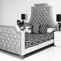 the lolita bed in majestic silver