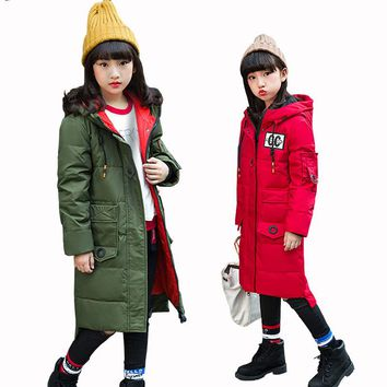 90% White Duck Down Coat Children's Down Jackets Coat Winter Girl Thick Duck Down Feather Jacket Outerwear Cold Winter -30Degree