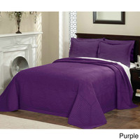 Vibrant Solid-colored Quilted French Tile Bedspread | Overstock.com Shopping - The Best Deals on Bedspreads