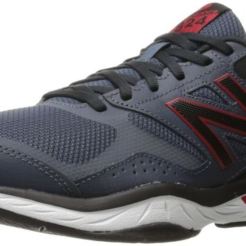 new balance men s casual comfort 824 training cross trainer shoe grey red 13 4e us