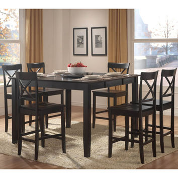 Homelegance Billings Extension Leaf Counter Height Table in Black