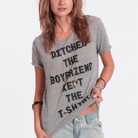 Ditched The Boyfriend Tee By MINKPINK