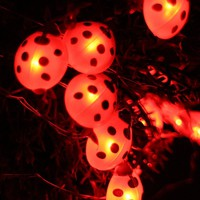 LED Ladybug String Lights