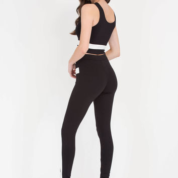 Style Path Crop Top 'N Leggings Set
