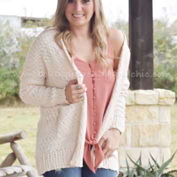 POPCORN CARDIGAN IN CREAM