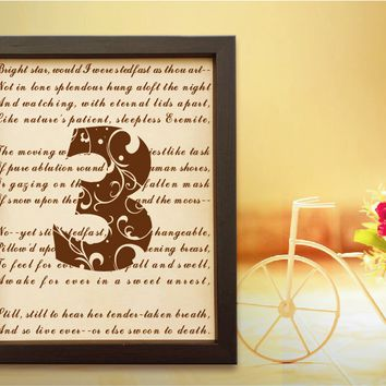 Lik77 Leather Engraved Wedding Third Anniversary gift three years personalized gift love poem