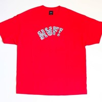 HUF GRAPHIC TEE, MEN, SIZE XX-LARGE, RED COLOR