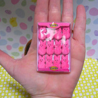 Peeps inspired realistic handmade miniature by craftybone on Etsy