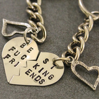 Best F%cking Friends Key Chains - Best Friend Key Chains - Best Bitches Key Chains - Nickel Silver - Mature