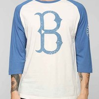 American Needle Brooklyn Dodgers Raglan Tee- Blue XXL