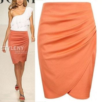 2014 New Fashion Womens' Business Suit Pencil Skirt Summer Ol Skirts For Women Knee Length Step Skirt = 1945828484